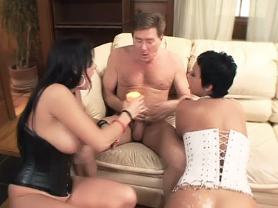 Pornstars double dealing Teaming a Cock
